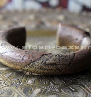 Старый африканский браслет.  Западная Сахара, Марокко, Мавритания, Мали или Ниге