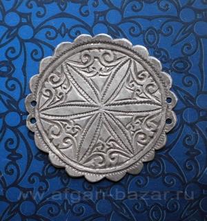 Старинная серебряная нашивка, возможно деталь пояса, сбруи или амуниции. Марокко