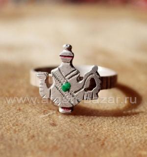 Берберский перстень-талисман с изображением чайника