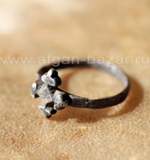 """Перстень-талисман с изображением """"Берберского креста"""". Юго-западная Сахара, Мавр"""
