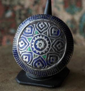 Традиционный мультанский перстень с эмалью.  Пакистан, провинция Мультан, 19-й -