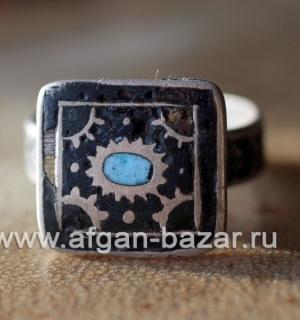 Традиционное мультанское кольцо с горячей эмалью. Пакистан, Мультан, первая поло