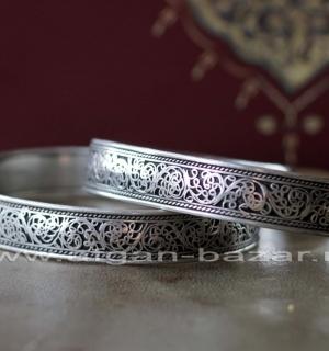 Узкий браслет с филигранью. Непал, современная работа