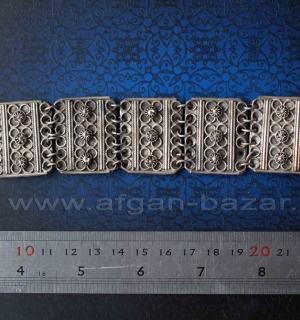 Винтажный турецкий браслет с филигранью