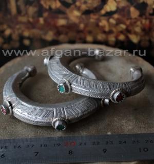 Пара традиционных афганских племенных браслетов (Tribal Kuchi Jewelry)