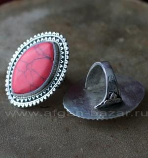Афганский перстень с коралловой мастикой