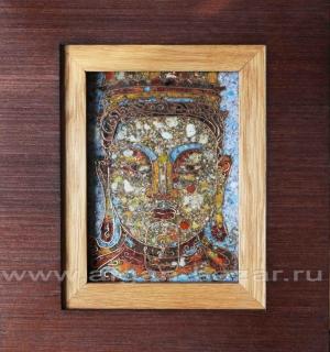 """Панно Будда"""", перегородчатая эмаль на меди, - автор Александр Емельянов."""