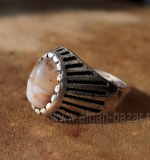 Ближневосточный мужской перстень-талисман с агатом (ониксом)