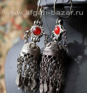 Старинные таджикские серьги. Южный Таджикистан или северный Афганистан, первая п