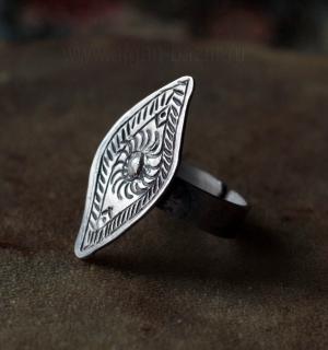 Бедуинское кольцо с солярной символикой. Египет, современная работа.  Украшения