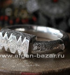 Серебряный тунисский браслет в виде традиционного берберского украшения Хал-Хал