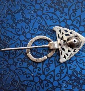 """Традиционная тунисская фибула-застежка для одежды """"Bzim"""".  Тунис,  берберы, 19-й"""