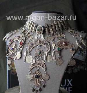 Старинное тунисское филигранное колье Chairya. Тунис, Сфакс, начало - первая пол