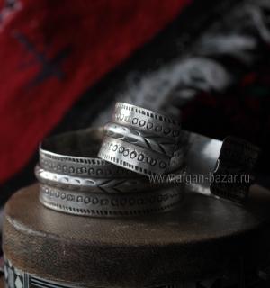 Пара тунисских серебряных браслетов. Тунис, первая половина - середина 20 века