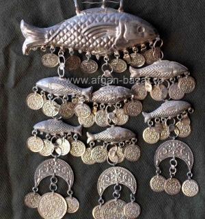 Настенное свадебное украшение с фигурами рыб, изображениями полумесяца и декорат