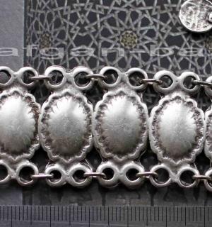 Браслет в восточном стиле из ювелирного сплава с посеребрением