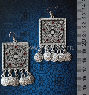Серьги в стиле Ориентализм с османскими монетками