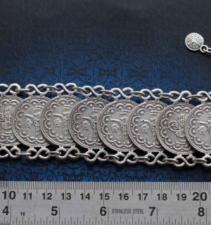Браслет в восточном стиле с копиями османских монет конца 19 века
