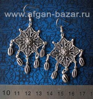 Турецкие филиганные серьги в восточном стиле