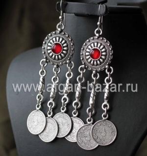 Серьги в стиле Ориентализм с имитациями турецких монеток
