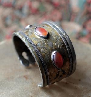 Старый туркменский браслет. Туркестан или северный Афганистан, 19-й, первая поло