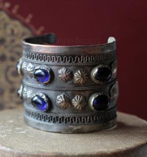 """Традиционный туркменский браслет """"Билезик"""" с замененными вставками"""