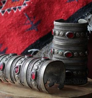 """Пара туркменских браслетов традиционной формы """"Билезик"""""""