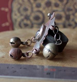 Туркменский перстень с бубенчиками. Афганистан, туркмены, 20-й век