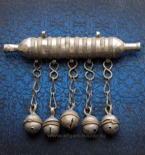 Традиционный туркменский цилиндрический амулет - Тумар. Афганистан, 20-й век