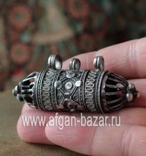 """Бедуинский серебряный амулет """"Хырз"""" (Hirz), часть ожерелья"""