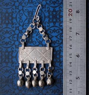 Винтажная египетская сережка - амулет Зар (без пары). Египет, 20 век