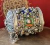 Марокканская шкатулка-браслет с горячей эмалью
