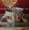 Уникальный  марокканский браслет с горячей перегородчатой эмалью. Музейное качес